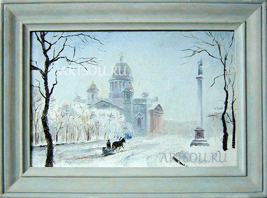 Исаакиевский собор(зима)